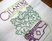 Reserved Listing for JoJo46 2 Cotton Dish Towels Rudolph and Cilantro Dish Towels Flour Sack Tea Towels