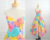 1980s-does-1950s Katie Floral Dress