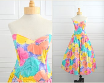 1980s-does-1950s Katie Floral Dress