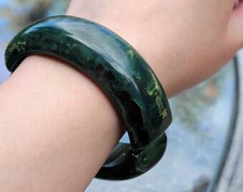 Blue Moon Bakelite Clamper Bracelet