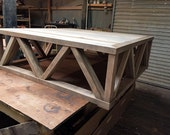 Reserved For Nicole H Balance On Custom 60x60x19 solid maple coffee table