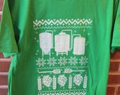 Ugly Christmas Sweater, Funny Beer Shirt, Brewing Beer, Homebrewer Gift, Short Sleeve Ugly Brew Shirt, Homebrewing, Craft Beer, Mead, Cider