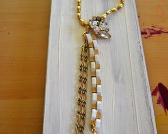 Necklace Upcycled Restored Chic Bohemian Hippie Vintage Assembly