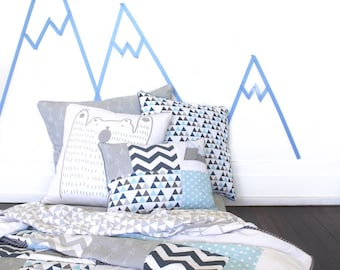 Mountain Boys Single Bed quilt - king single, twin size