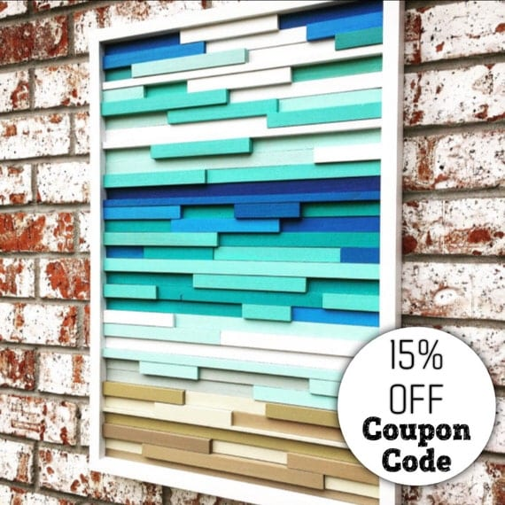 Wall art wood wall art wood sculpture modern by moderntextures Reclaimed wood wall art for sale