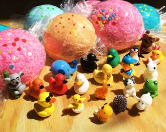 CREATE YOUR OWN Toy Surprise Bath Bomb Fizzy Bath Candy For Tub Time Fun! Toy Inside Bath Bombs - Assorted toys to choose from - Customize
