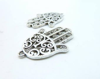 10pcs 24x35mm Antique Silver Beautiful  Fatima Hand  Charm Pendant c6654