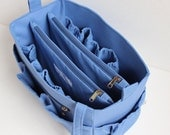 Extra taller Bag organizer to fits LV Neverful GM - Purse organizer insert with two divider zipper compartment