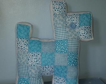Patchwork Puppy Cushion
