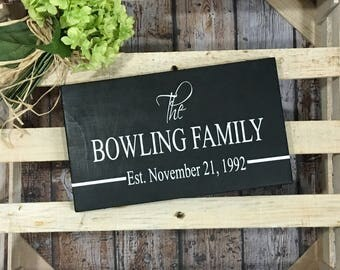 Est Date sign. Last Name sign. Family Name Sign Farmhouse Sign sign. Established Date Sign. Wedding Gift Anniversary Gift Housewarming gift