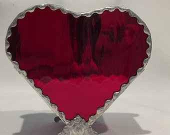 Valentines Red Heart Stained Glass