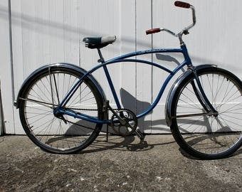 Bike Ride... Vintage Blue Men's Schwinn Speedster Bike,  Beach Cruiser