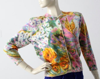 1960s Ste. Laurent floral cardigan