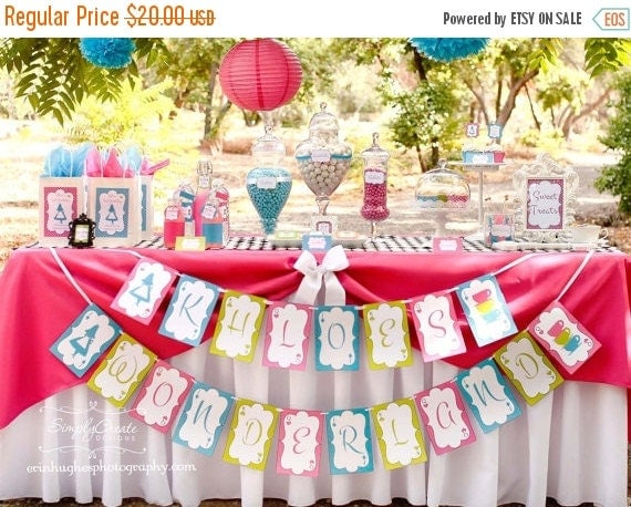 SALE Tea Party Printable Package DIGITAL Birthday Package