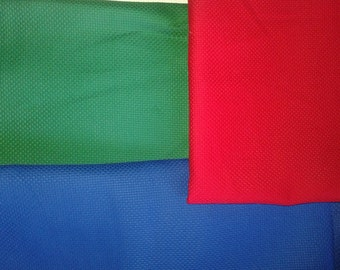 3 pieces Aida Fabric red blue green