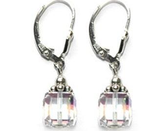 BDC Crystal Cube Earring
