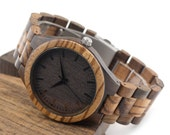 Personalized Wooden Watch, Wood Watch,Groomsmen Gifts,engraved with personal text - Gift for Him/Her, Anniversary, Wedding gift