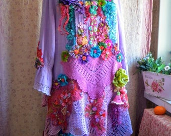 RESERVED FOR L.Second payment Bohemian romantic dress