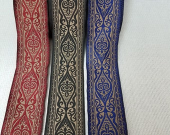 Royal 1 1/2 in wide fabric trim Sold  by the yard