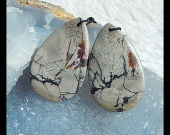 Chohua Jasper Earring Bead,38x24x4mm,11.6g