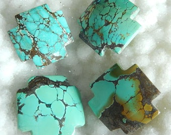 SALE 4PCS Precious Turquoise Gemstone Cabochons,26x5mm,22g