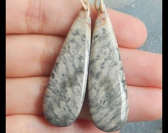 New,Indonesian Fossil Coral Gemstone Earring Bead,44x13x5mm,8.0g