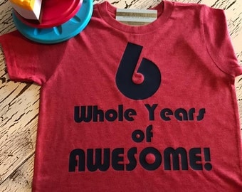 6 whole years of AWESOME tri blend tee