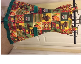 Southwestern Style Full Ladies Apron Ready to ship