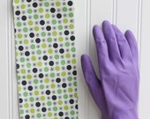 Flower and Dot Cuff- Fancy Ruffled Rubber Gloves - Cleaning Gloves - Dishwashing Gloves