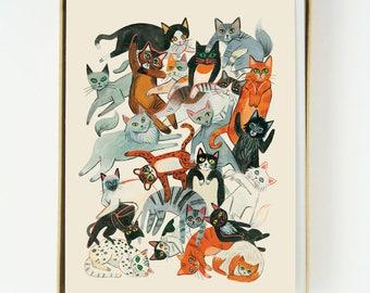 Cat Pile 8pcs