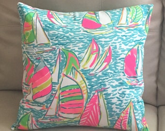 Pillow covers made with Lilly Pulitzer fabric  16 X 16 inches envelope style. 4 prints to chose from!