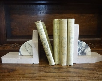 Vintage French Stone Heavy Art Deco Bookends circa 1930's / English Shop