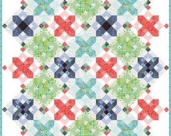 Snowflake Hazelwood Boxed Quilt Kit 36010 by One Canoe Two for Moda