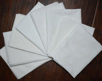White Christmas Fat Quarter Bundle of 8 by P&B and Riley Blake 3 LEFT