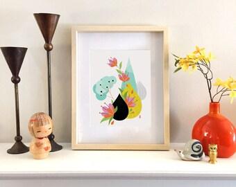 Ikebana Study II - Fine Art Print 8x10