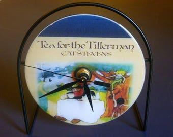 Cat Stevens Recycled CD Clock Art