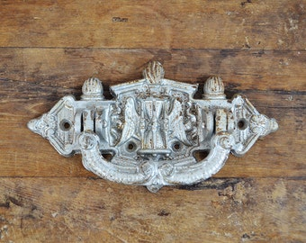 Large Cast iron Door Knocker French Vintage wings hourglass door hardware