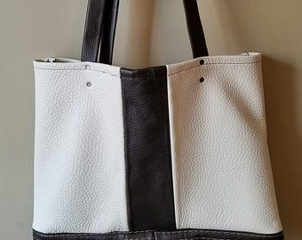 Handmade leather tote