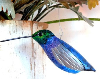 pottery bird hummingbird