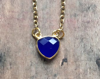 Gorgeous blue chalcedony necklace