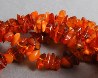 Long Strap of Genuine Baltic Amber beads, chips