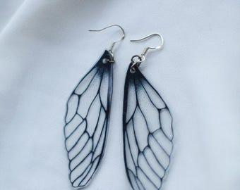 Fairy Wing Earrings, Dragonfly Earrings, Dragonfly Jewelry, Boho Jewelry, Bohemian Jewelry, Bohemian Earrings Modern Minimalist Gift For Her