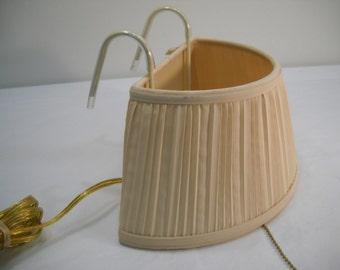 Vintage Headboard Lamp Reading Bed Light Bedroom Cream Shade