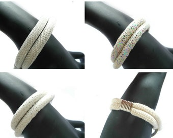 White Cord Bracelet, Cord Bracelet, Silver Cord Bracelet, Rope bracelet, White Rope Bracelet, White Leather Bracelet, Leather Bracelet,