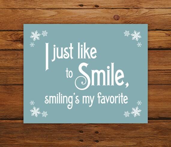 Elf Quotes Smiling: Custom Color Christmas Print Elf Movie Quote Smiling's