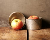 Pair of Vintage Tin Soup Cups - Chili Buckets - Performance Props from Turner Hall in Milwaukee, Wisconsin