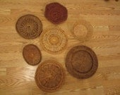 7 Assorted Wicker, Woven Wall Baskets, Wall Decor, Home Decor, Staging BKT10A