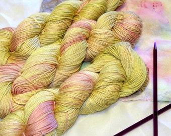 Eco dyed SHINE merino/silk 4 ply yarn
