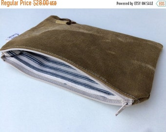 HOLIDAY BLOWOUT TAB - reconstructed vintage duffle bag small pouch