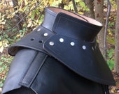 Leather armor gorget SCA LARP